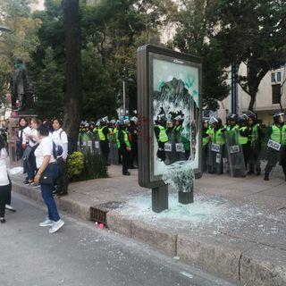 Actos vandálicos se realizaron durante la marcha contra la violencia de género