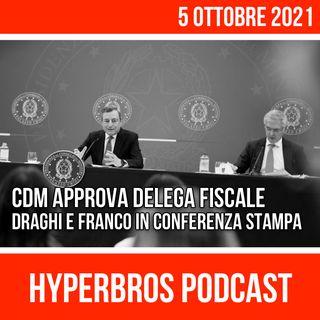 Governo approva Delega Fiscale, Draghi e Franco in conferenza stampa