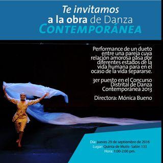 'Página en Blanco'  espectáculo de Danza Contemporánea.