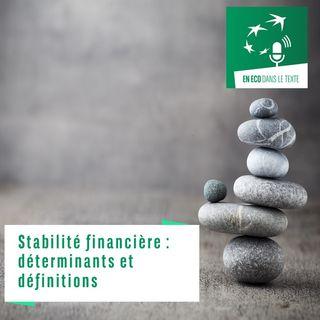 #01 – Stabilité financière : déterminants et définitions