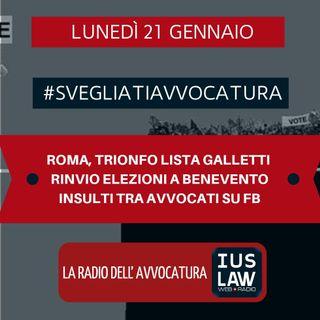 ROMA, TRIONFO LISTA GALLETTI - RINVIO ELEZIONI A BENEVENTO - INSULTI TRA AVVOCATI SU FB - #SvegliatiAvvocatura