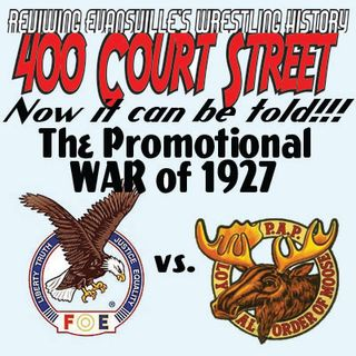 400 Court Street - 1927 Promotional wars, Wrestling is back in Evansville