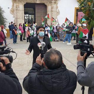 Declaraciones del Diputado de Adelante Andalucía, Ismael Sánchez en el Acto de Solidaridad con el Sahara en Utrera.