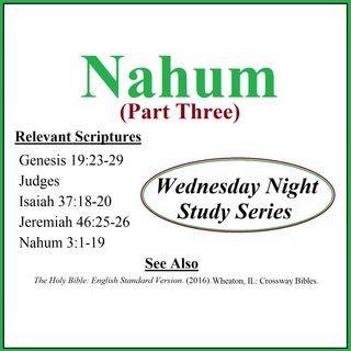 Wednesday Night Study Series - Nahum Part 3 - Weed, Women in Combat, NFL