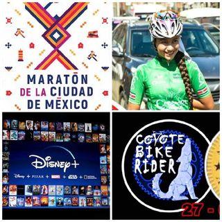 Pikes Peak, Marathon Crash Race/CDMX, Celso Piña, Valentina Méndez, Coyote Bike Rider 1°Aniversario, Disney Plus
