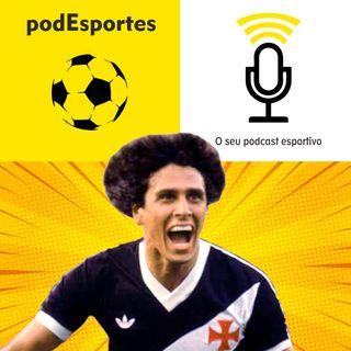 Roberto Dinamite, do Vasco e da Seleção, no podEsportes
