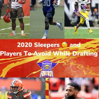 2020 sleepers and players not to draft