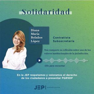 2. Diana Bolaños, contratista de la Subsecretaría Ejecutiva de la JEP | SOLIDARIDAD | EPISODIO 2