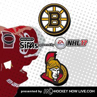 Bruins vs Senators