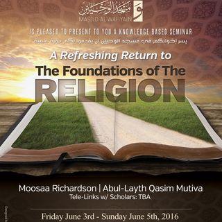 [Seminar]: Foundations of the Religion
