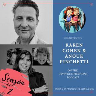 Karen Cohen and Anouk Pinchetti live at BlockConscious Summit 2018 on Crypto Clothesline Podcast