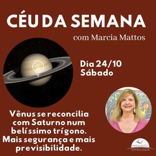 Céu da Semana - Sábado, dia 24/10: Vênus se reconcilia com Saturno num belíssimo trígono.