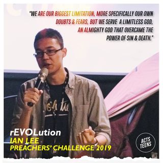 Preachers' Challenge 2019 - rEVOLution - Ian Lee