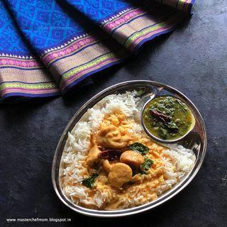 South Indian Kadhi Pakora  Recipe:Kadhi Kuzhambu Recipe