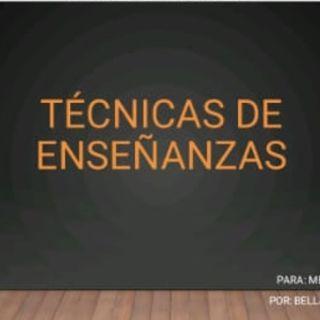 Técnica de enseñanza