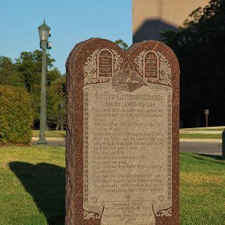 Ten Commandments Monument Destroyed
