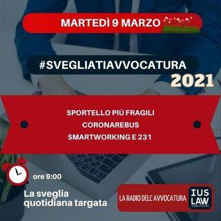 SPORTELLO PIÙ FRAGILI - CORONAREBUS - SMARTWORKING E 231 - #SvegliatiAvvocatura