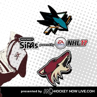 Sharks vs Coyotes (NHL 17 Hockey Sims)