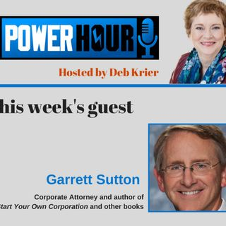 Guest: Garrett Sutton: Corporate Attny & Author of Start Your Own Corporation Books