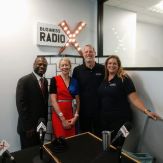 Michael Williams with Bank of America, Charlotte Geletka with Silver Penny Financial and Lisa and Dave Amundsen with Le Macaron