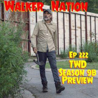 """Ep 222 """"TWD Season 9B Preview & Stuff"""""""