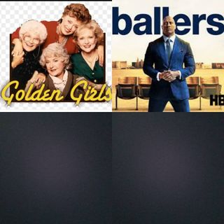 In bed Watching Ballers and Golden Girls