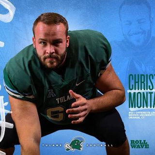 Tulane Center Christian Montano - CT CFB POY