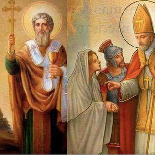 Santos Cirilo y Metodio, copatronos de Europa. San Valentín, sacerdote mártir