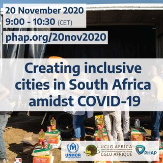Creating inclusive cities in South Africa amidst COVID-19