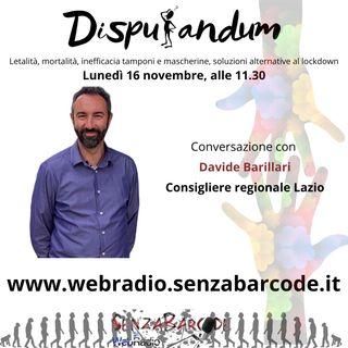 """Davide Barillari, """"bocciato"""" alla Pisana. Spazio a idee divergenti"""