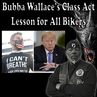 Bubba Wallace's Class is an Inspiration for all Bikers!
