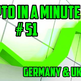 Crypto In A Minute #51 1) Rush to Bitcoin Market in Germany, 2) The Ukraine Looks To Become Most Crypto-Friendly Nation On Earth