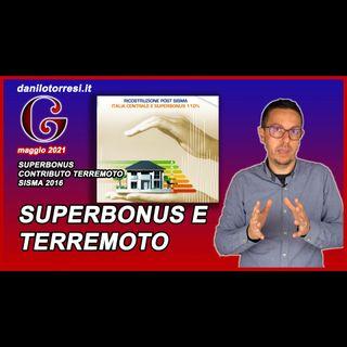 SUPERBONUS 110% combinato ai contributi per ricostruzione terremoto - post sisma 2016