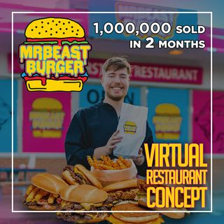 161. MrBeast Burgers Sells 1,000,000 Burgers in 2 Months Using Virtual Restaurants