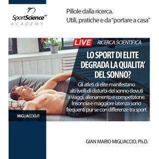 Lo sport di Elite degrada la qualità del sonno?