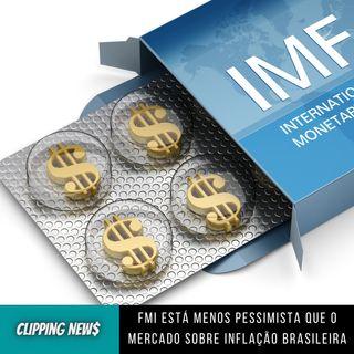 FMI está menos pessimista que o mercado sobre inflação brasileira