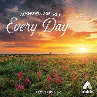 Acknowledging God Every Day