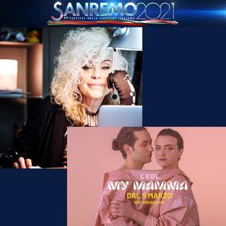 """SANREMO 2021. Nella serata cover, La Rappresentante di Lista interpreterà con Donatella Rettore """"Splendido Splendente""""."""