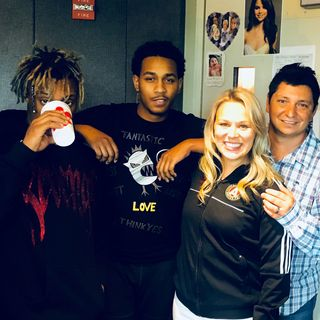 Juice Wrld (in studio) and the boss drops bars!
