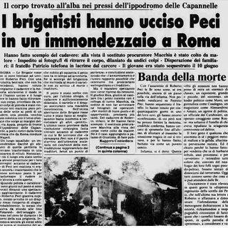 Le Brigate Rosse uccidono Roberto Peci