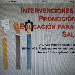 Intervenciones En Promoción Y Educación Para La Salud   Episodio 1