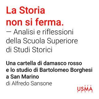 Una cartella di damasco rosso e lo studio di Bartolomeo Borghesi a San Marino - Alfredo Sansone