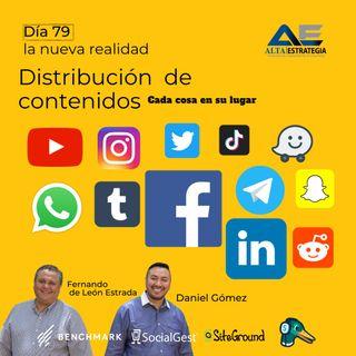 Distribución de contenido en rede sociales _ Cada cosa en su lugar