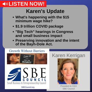 Updates on minimum wage hike and $1.9 trillion COVID package; and congressional actions aimed at Big Tech.