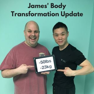 James' Body Transformation Update with Trainer Saber