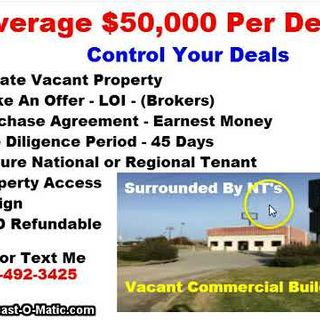 Average $50,000 Per Deal Flipping Vacant Commercial Buildings Real Estate Investing