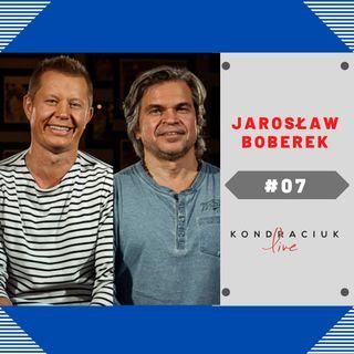 Aktor Jarosław Boberek w Kondraciuk LIVE! #07 Internetowy talk show Król Julian