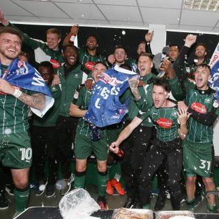 Plymouth Argyle won promotion to League One with a 6-1 thrashing of Newport County