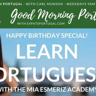 Time to Learn European Portuguese with Mia Esmirez on the Good Morning Portugal! Show