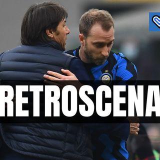"""Milan-Inter, Conte e il gesto verso Eriksen: """"Sei il mio uomo"""""""